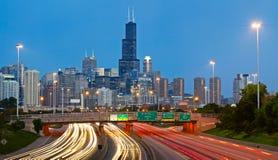 Tráfico de Chicago. foto de archivo libre de regalías