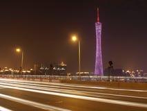 Tráfico de ciudad de Guangzhou imágenes de archivo libres de regalías
