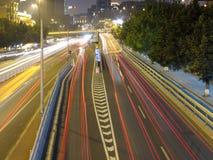 Tráfico de ciudad de Guangzhou imagen de archivo