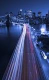 Tráfico de ciudad de Nueva York en la ciudad Fotografía de archivo libre de regalías