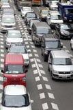 Tráfico de coche en el cetner de Tokio, Japón Fotografía de archivo libre de regalías