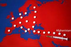 Tráfico de droga - com título Afeganistão Foto de Stock Royalty Free