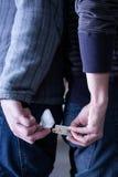 Tráfico de drogas Fotografía de archivo libre de regalías