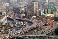 Tráfico de El Cairo Fotos de archivo libres de regalías