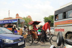 Tráfico de Jaipur Imagen de archivo libre de regalías