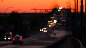 Tráfico de la altura en autopista sin peaje metrajes