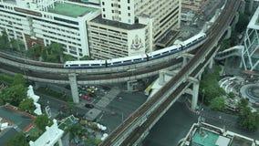 Tráfico de la antena de Bangkok almacen de metraje de vídeo