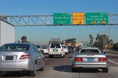 Tráfico de la autopista sin peaje Fotografía de archivo