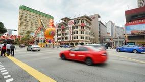 Tráfico de la calle de Chinatown en el distrito de Chinatown, Singapur Fotos de archivo libres de regalías