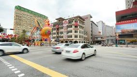 Tráfico de la calle de Chinatown en el distrito de Chinatown, Singapur Imagen de archivo