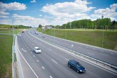 Tráfico de la carretera Foto de archivo libre de regalías