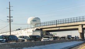 Tráfico de la carretera cerca de Nampa, Idaho fotos de archivo libres de regalías