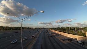 Tráfico de la carretera de Miami almacen de video