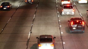 Tráfico de la hora punta en Los Ángeles - clip 5 almacen de metraje de vídeo