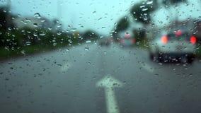 Tráfico de la lluvia Fotografía de archivo libre de regalías
