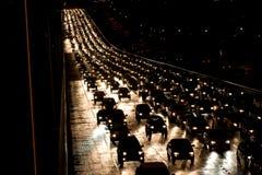 Tráfico de la noche Imagen de archivo libre de regalías