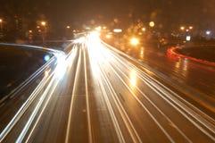 Tráfico de la noche Foto de archivo