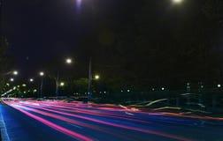 Tráfico de la noche imágenes de archivo libres de regalías