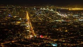 Tráfico de la noche de la calle de San Francisco Market almacen de metraje de vídeo