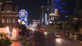 Tráfico de la noche de Las Vegas - lapso de tiempo - clips 5 de 12 almacen de video