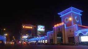 Tráfico de la noche en la ciudad de Ho Chi Minh - timelapse