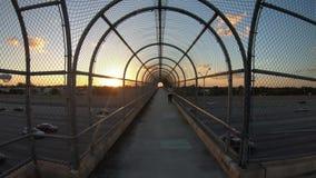 Tráfico de la puesta del sol de la carretera de Miami almacen de metraje de vídeo