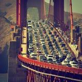 Tráfico de la tarde en San Francisco fotografía de archivo