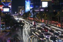 Tráfico de la tira de Las Vegas Fotografía de archivo