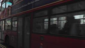 Tráfico de Piccadilly Circus Londres almacen de video