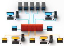 Tráfico de red Imagenes de archivo