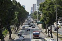 Tráfico de Rio de Janeiro Imagen de archivo libre de regalías