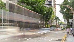 Tráfico de Singapur alrededor del timelapse del centro de ciudad metrajes