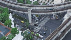 Tráfico de Timelapse Bangkok metrajes