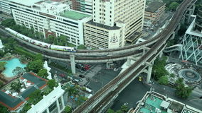 Tráfico de Timelapse Bangkok almacen de metraje de vídeo