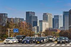 Tráfico de Tokio Imagen de archivo libre de regalías