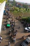 tráfico debido a los huracanes Fotos de archivo