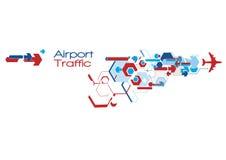 Tráfico del aeropuerto Fotografía de archivo libre de regalías