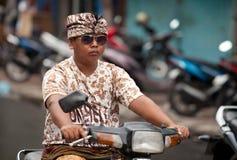 Tráfico del Balinese fotos de archivo libres de regalías