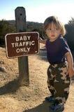Tráfico del bebé solamente Foto de archivo libre de regalías