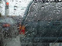 Tráfico del día lluvioso Imagen de archivo libre de regalías