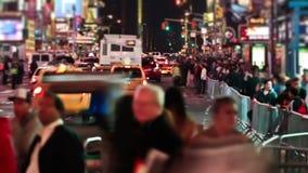 Tráfico del lapso de tiempo del Times Square almacen de video
