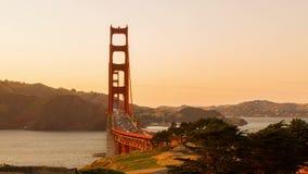 Tráfico del lapso de tiempo en puente Golden Gate almacen de video