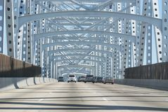 Tráfico del puente Fotografía de archivo