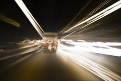 Tráfico del túnel - captura de movimiento de la velocidad foto de archivo