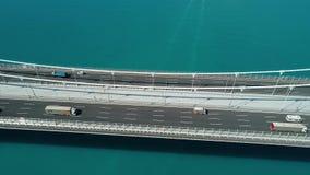 Tráfico del transporte, puente grande Turquía ilustración del vector