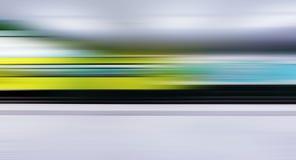Tráfico del tren con la alta falta de definición de movimiento dinámica Fotos de archivo libres de regalías