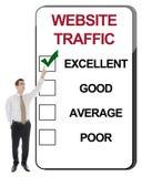 Tráfico del Web site Imagen de archivo libre de regalías