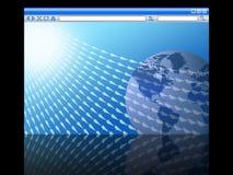 Tráfico del Web site del concepto del Internet Fotografía de archivo libre de regalías