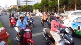 Tráfico diario en Ho Chi Minh City metrajes