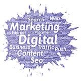 Tráfico digital del seo del márketing del vector stock de ilustración